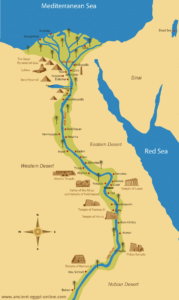Map of Egypt - Nile