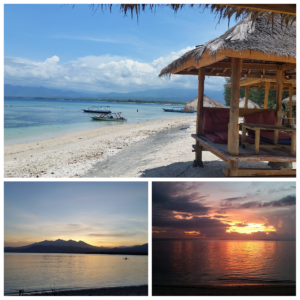 Sunset and sunrise Gili Air
